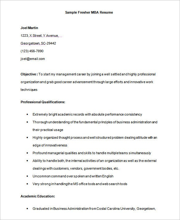 resume template word excel pdf free premium templates sample mba format for freshers Resume Georgetown Resume Template