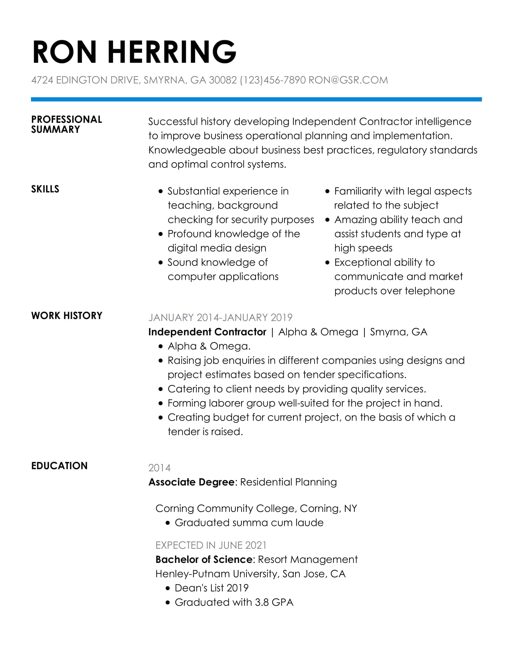 resume templates edit in minutes simple format for job insightful blue most effective Resume Simple Resume Format For Job