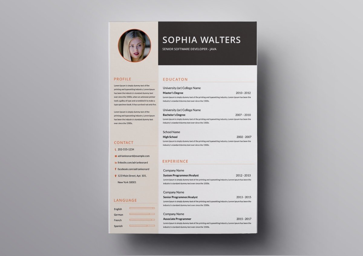 resume templates free for mac best template min situation task action result informatica Resume Best Pages Resume Template