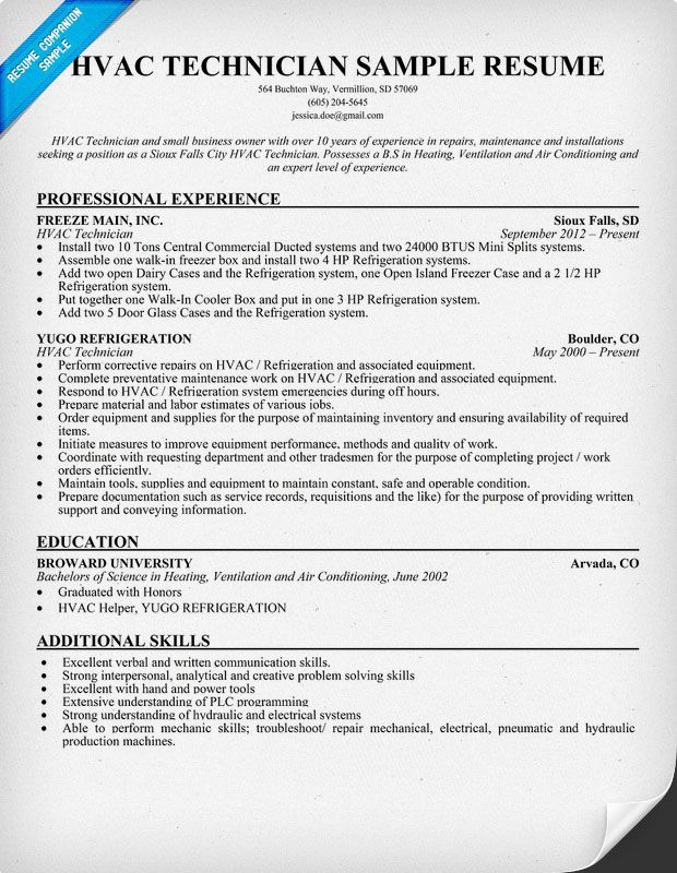 resume templates hvac technician sample cover letter examples for air conditioning Resume Resume For Air Conditioning Technician