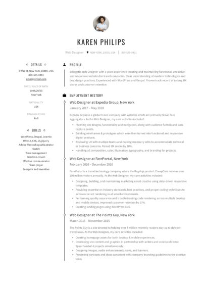 resume templates pdf word free downloads and guides blank template karen philips web Resume Download Blank Resume Template