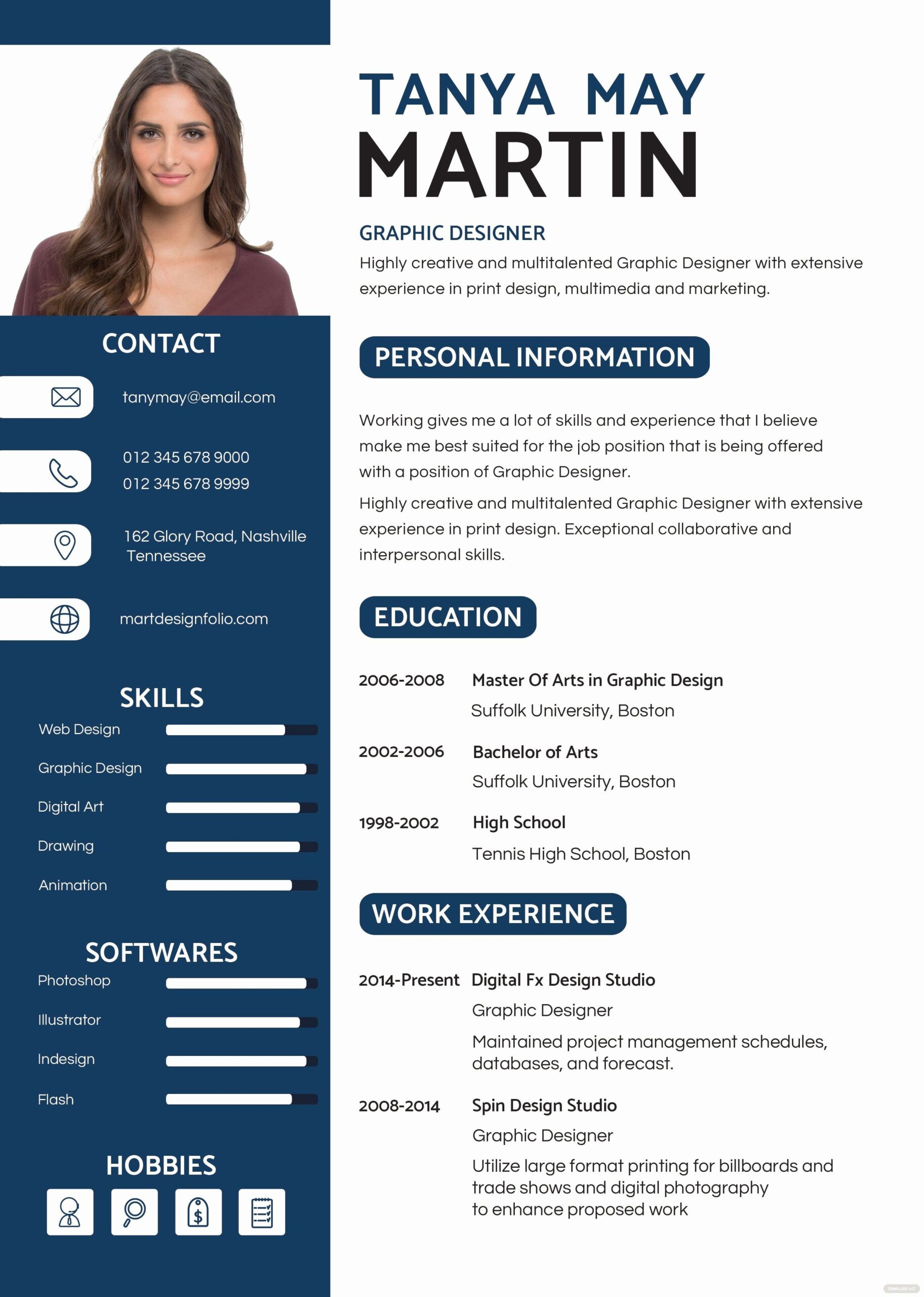 resume with template luxury free professional and cv in ms word kreatif desain graphic Resume Professional Graphic Designer Resume