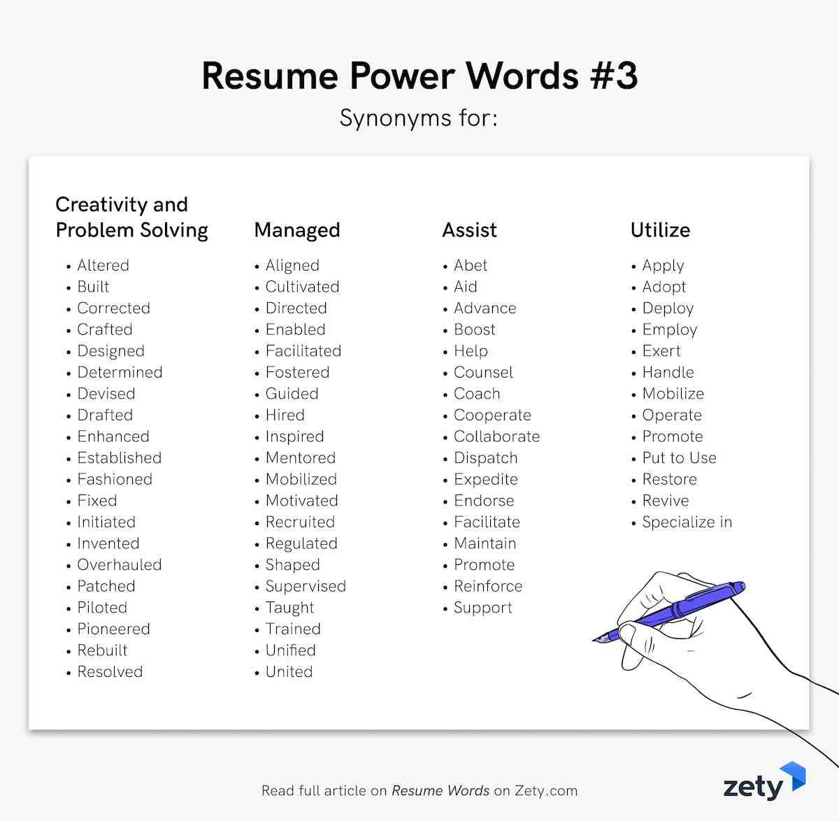 resume words action verbs good adjectives developed synonym technical writing examples Resume Developed Synonym Resume