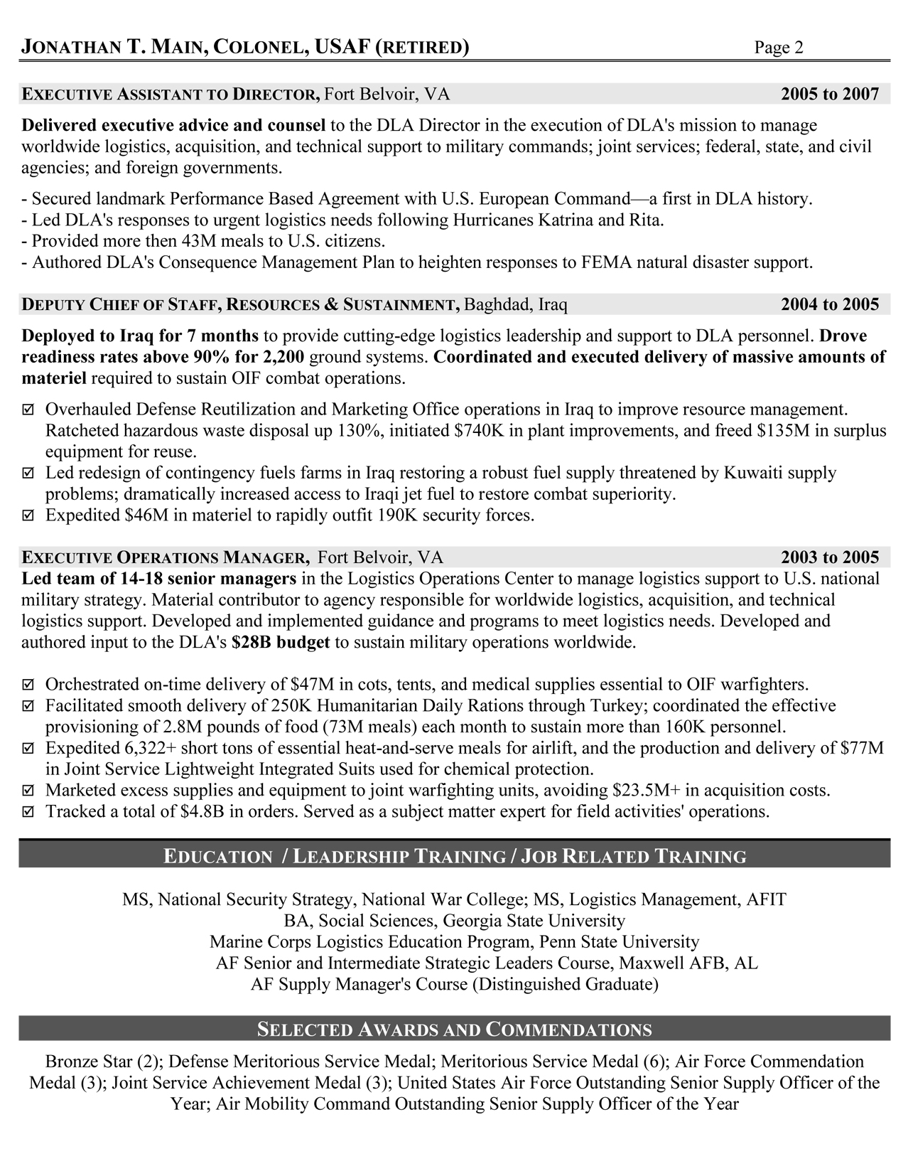 resume writing services for retired military to civilian resumes service logistician Resume Resume Writing Service For Military To Civilian