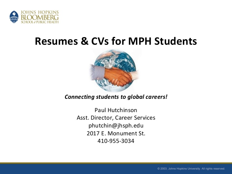 resumes and cvs for mph students fall public health student resume phpapp01 thumbnail Resume Public Health Student Resume