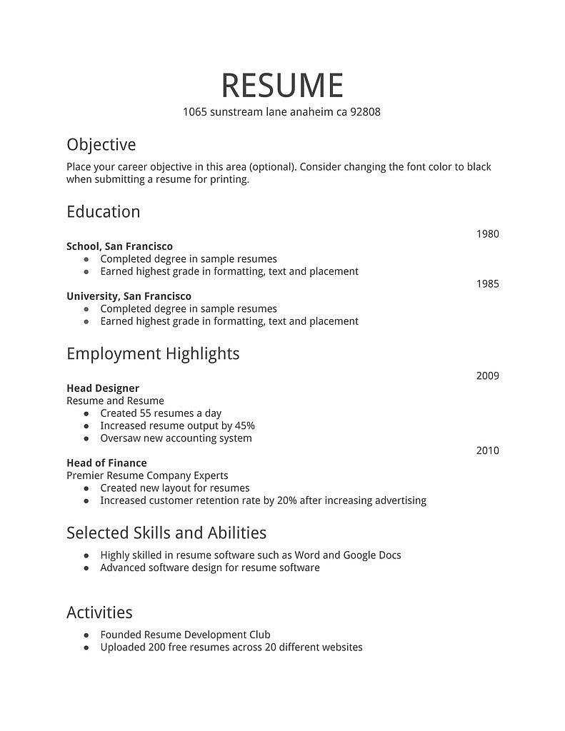 resumes for first time job seekers resume letter inside templates best pro examples Resume Free Resume Templates For First Time Job Seekers