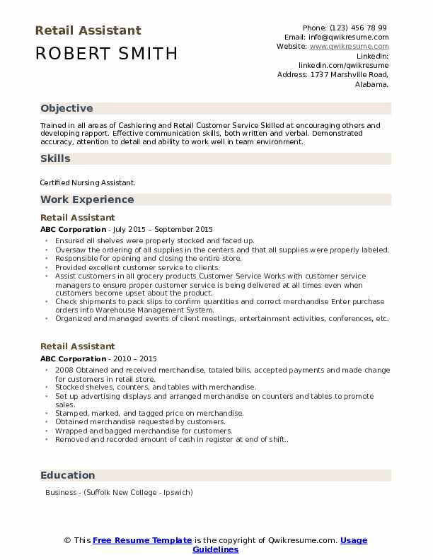 retail assistant resume samples qwikresume store template pdf civil foreman government Resume Retail Store Resume Template