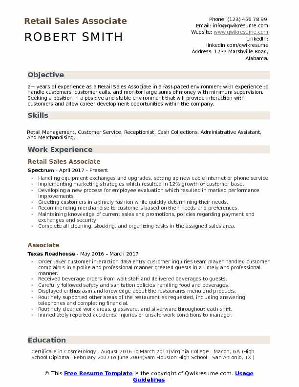 retail associate resume samples qwikresume examples pdf career objective for lawyers cna Resume Retail Sales Associate Resume Examples