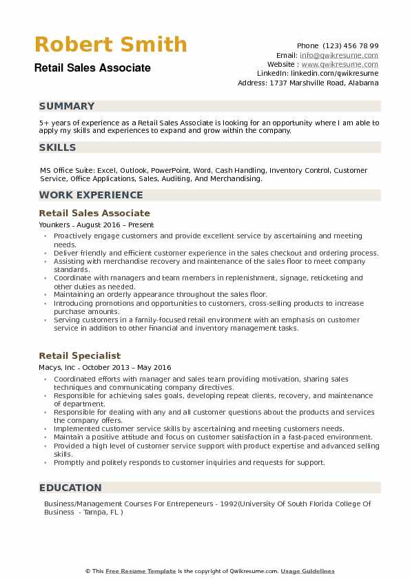 retail associate resume samples qwikresume examples pdf templates construction management Resume Retail Sales Associate Resume Examples
