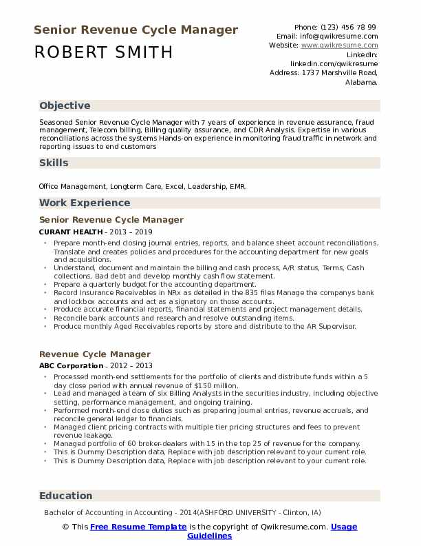 revenue cycle manager resume samples qwikresume healthcare examples pdf lpn cover letter Resume Healthcare Revenue Cycle Resume Examples