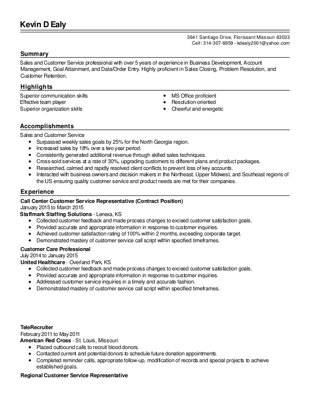 revised and customer service resume professional summary for qtp automation sample Resume Professional Summary For Resume Customer Service