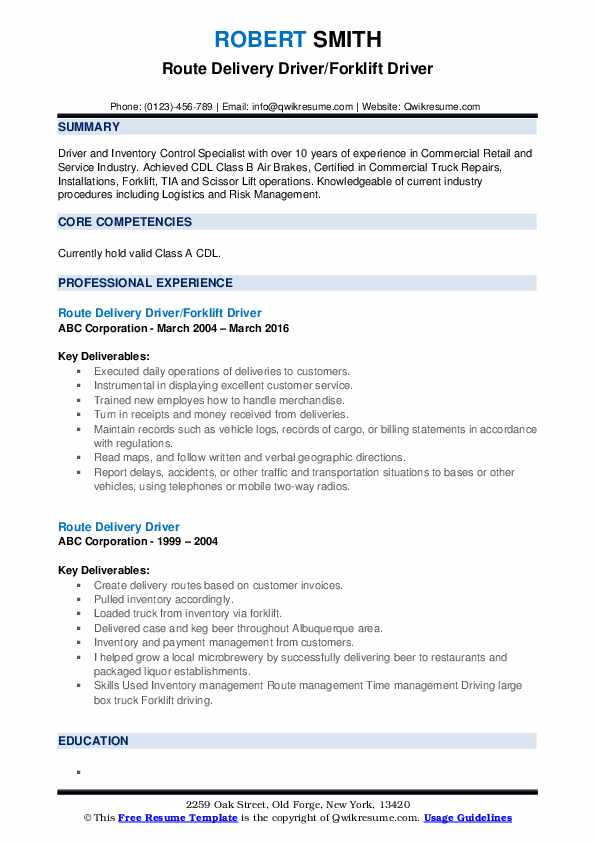 route delivery driver resume samples qwikresume examples pdf logistics consultant rental Resume Delivery Driver Resume Examples