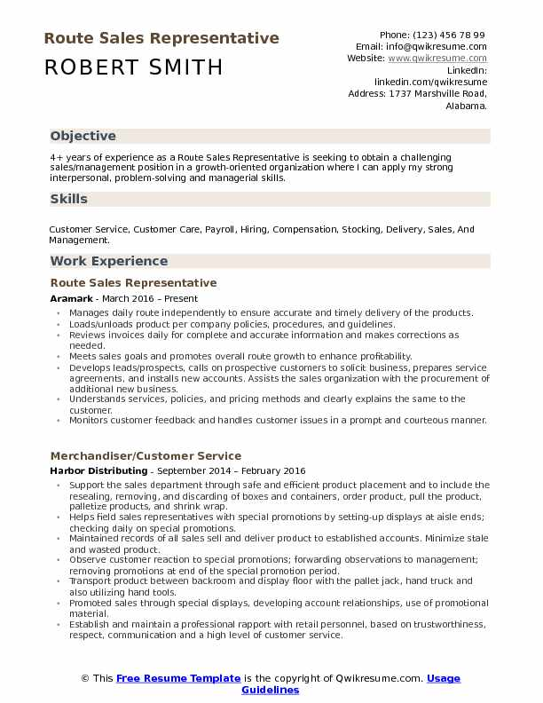 route representative resume samples qwikresume good for position pdf putting together and Resume Good Resume For Sales Position