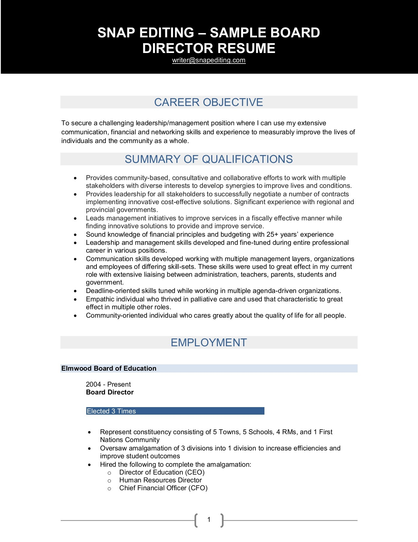 sample after board director resume for position investment banking law school template Resume Resume For Board Position Sample