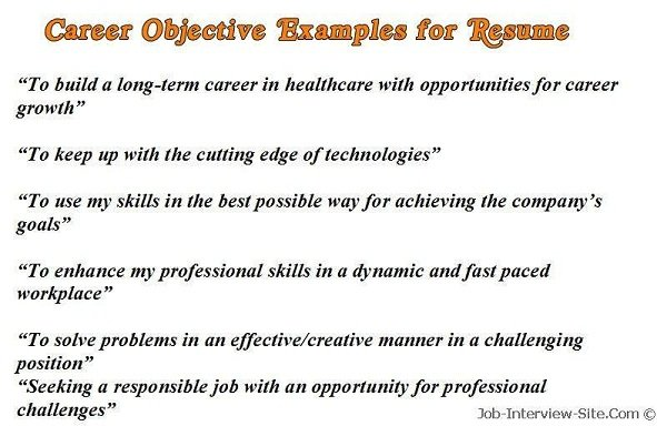 sample career objectives examples for resumes writing great objective resume waitress Resume Writing A Great Objective For Resume