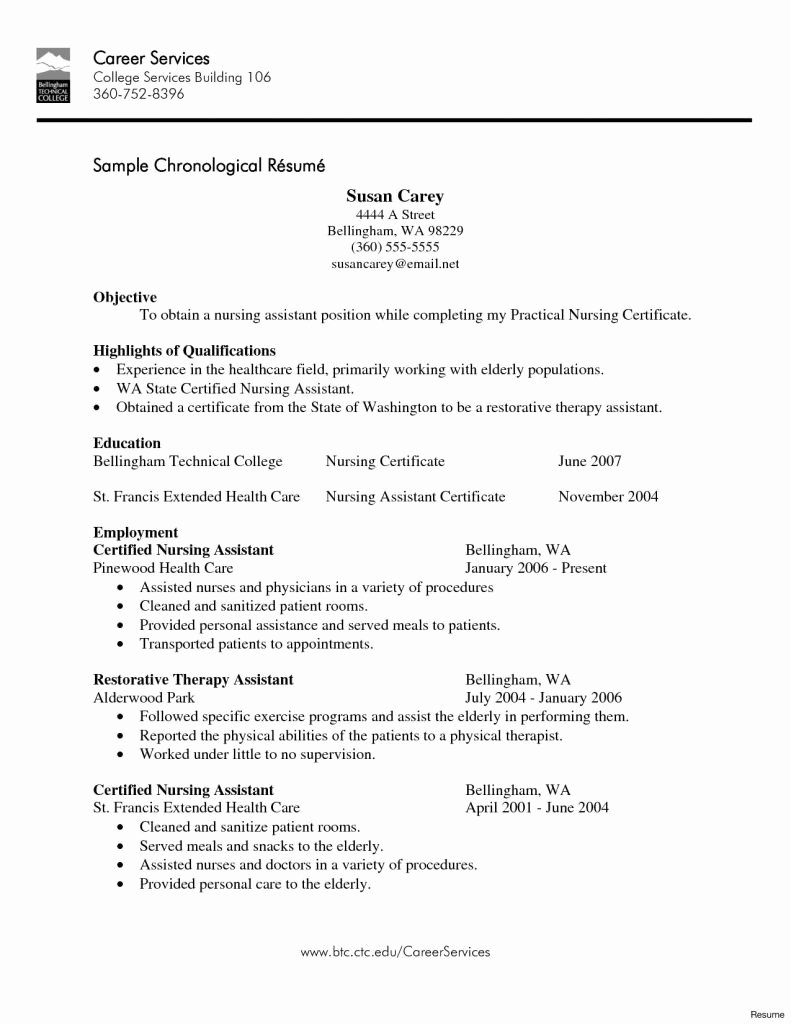 sample cna resume with no experience camba create templates template for job Resume Cna Resume Sample No Experience