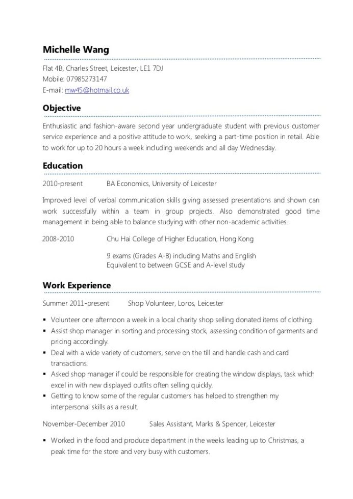 sample resume for first time job examples example parttime cv math teacher child care Resume Doing A Resume For The First Time