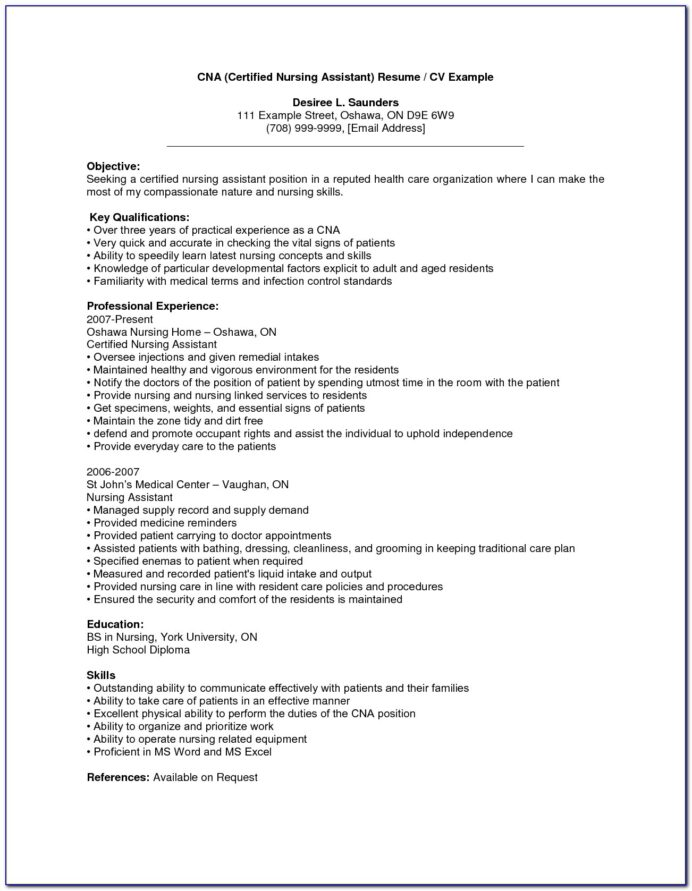 sample resume for nursing assistant with no experience vincegray2014 cna job summary on Resume Cna Resume Sample No Experience
