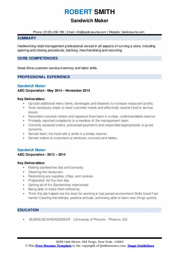 sandwich maker resume samples qwikresume professional service phoenix pdf and cover Resume Professional Resume Service Phoenix