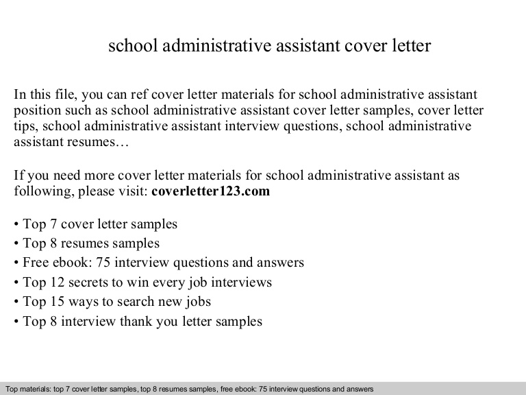 school administrative assistant cover letter resume Resume Administrative Assistant Resume Cover Letter