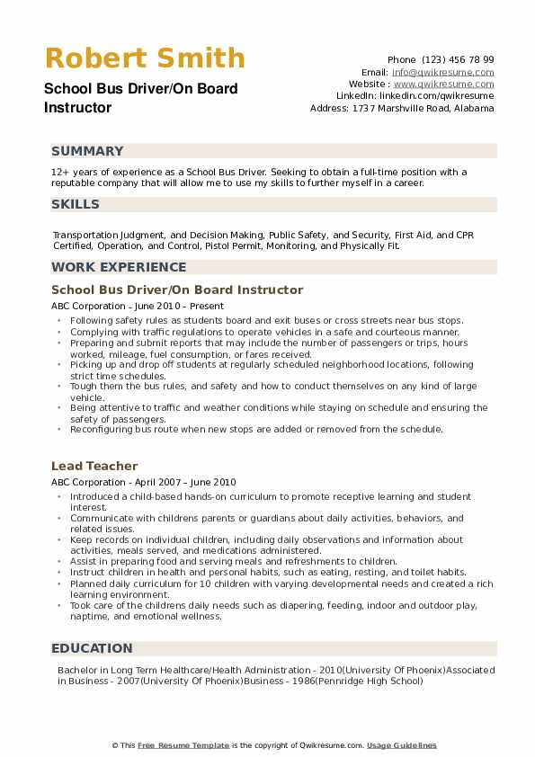 school bus driver resume samples qwikresume pdf mind map template great objective line Resume School Bus Driver Resume