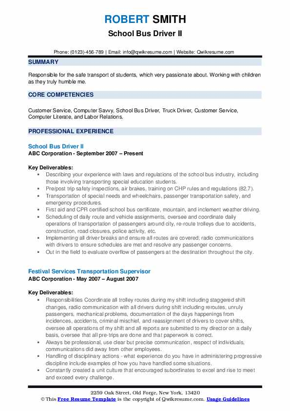 school bus driver resume samples qwikresume pdf personal summary for customer service Resume School Bus Driver Resume