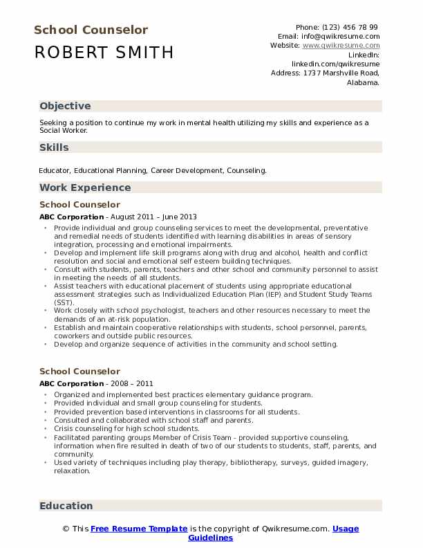 school counselor resume samples qwikresume entry level mental health pdf objective for Resume Entry Level Mental Health Counselor Resume