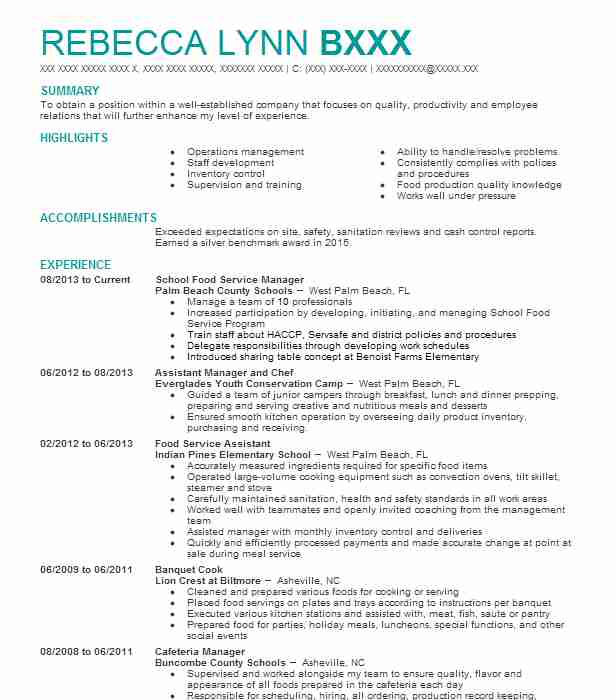 school food service manager resume example new city department of education dacula metal Resume Food Service Manager Resume