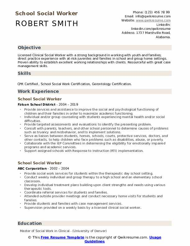 school social worker resume samples qwikresume work templates free pdf insight iphone Resume Social Work Resume Templates Free