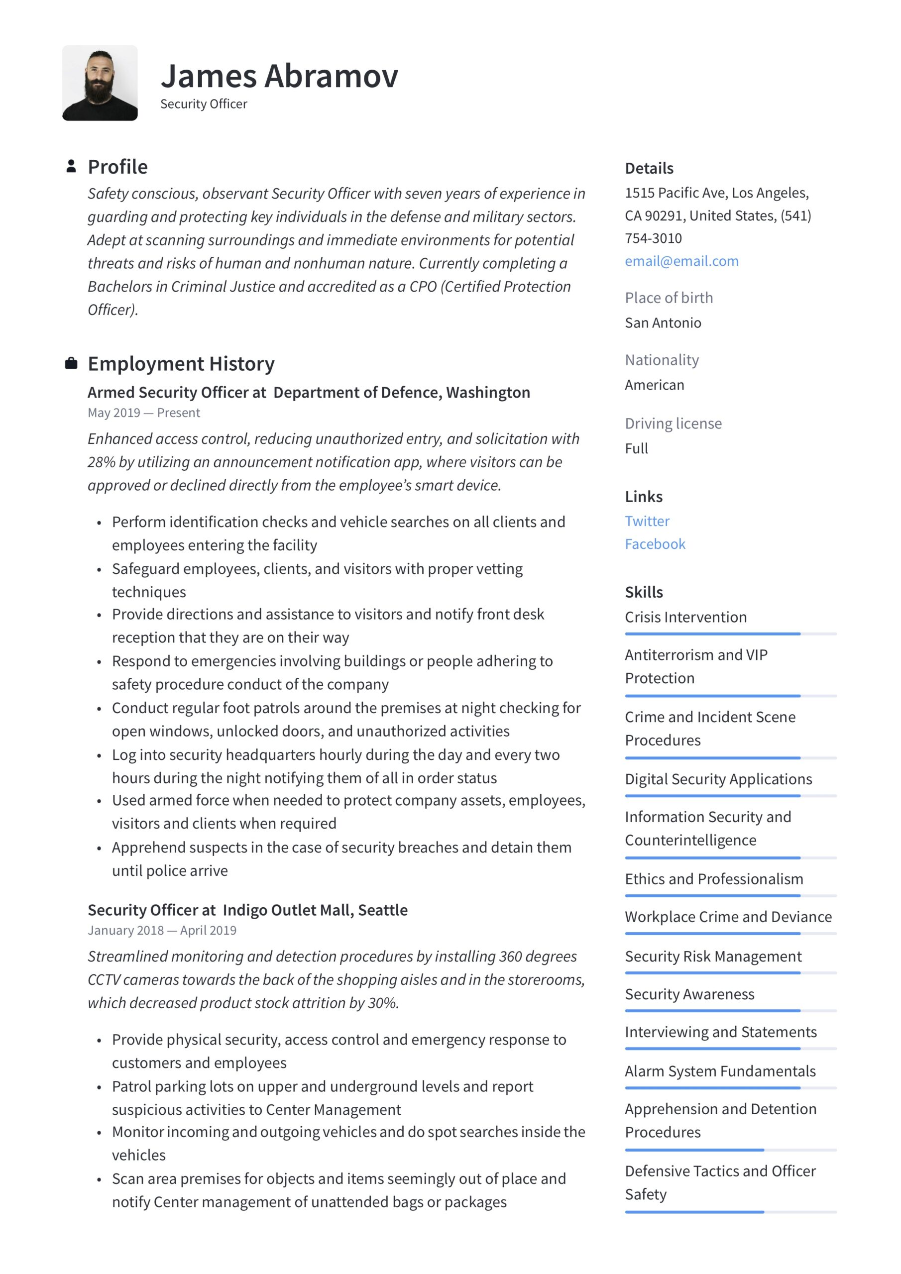 security officer resume writing guide examples duties better naperville new grad nursing Resume Security Officer Resume Duties