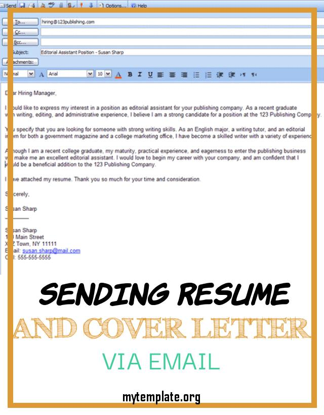 sending resume and cover letter via email free templates of easy steps for emailing pin Resume Resume Cover Letter Via Email