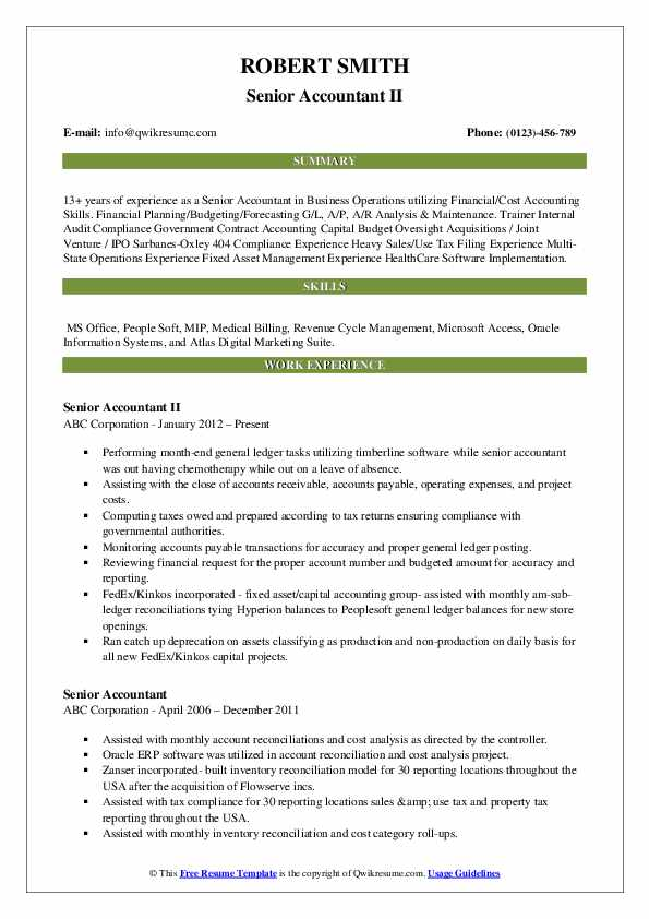 senior accountant resume samples qwikresume government pdf for men special skills acting Resume Government Accountant Resume
