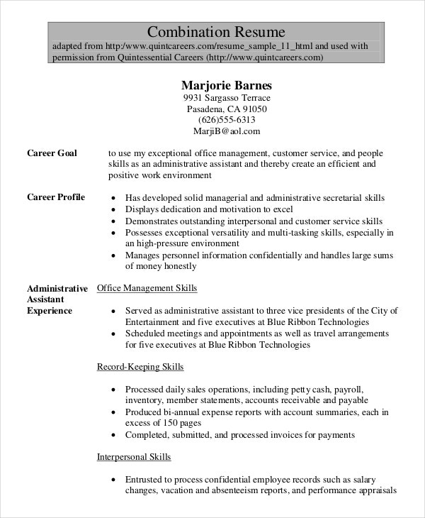 senior administrative assistant resume templates pdf word free premium format for officer Resume Resume Format For Administrative Officer