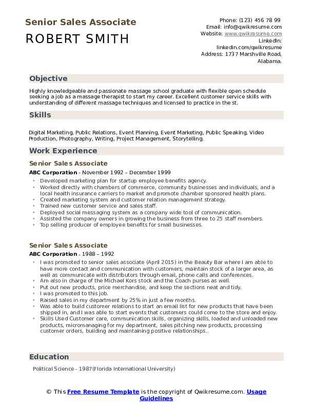 senior associate resume samples qwikresume examples pdf hair stylist objective healthcare Resume Sales Associate Resume Examples