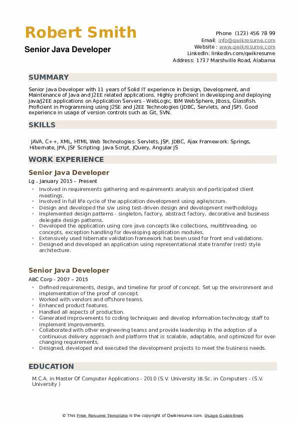 senior developer resume samples qwikresume years experience pdf bio on good summary Resume Java Developer Resume 8 Years Experience