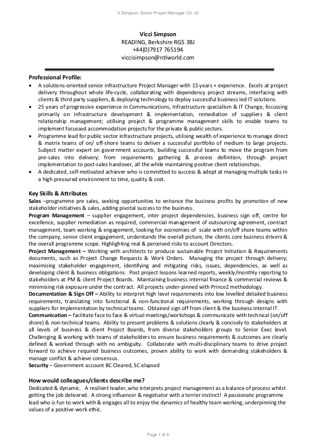 senior project manager resume state examples some college on server duties production Resume Senior Project Manager Resume