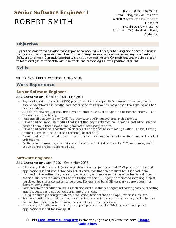 senior software engineer resume samples qwikresume pdf professional examples writing cnc Resume Senior Software Engineer Resume