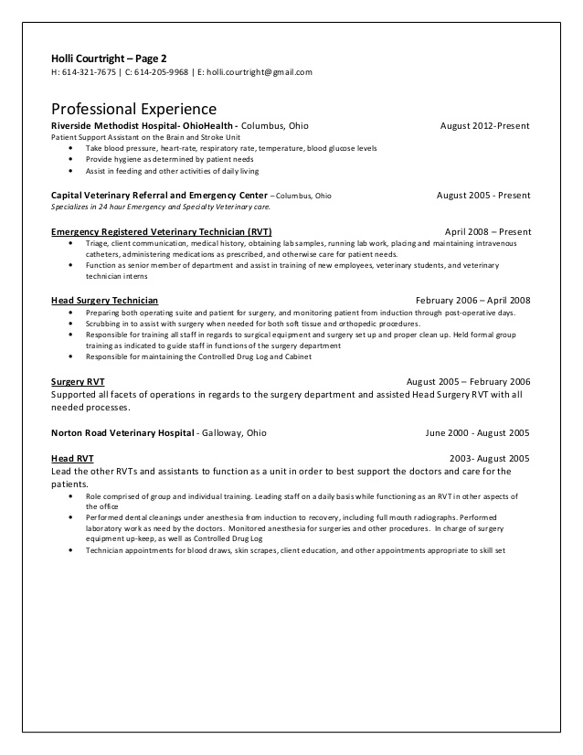serenaa keroyd free surgical tech resume samples for technologist student courtright Resume Resume For Surgical Technologist Student