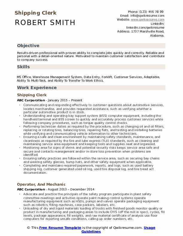 shipping clerk resume samples qwikresume and receiving pdf sample physical therapy dental Resume Shipping And Receiving Clerk Resume