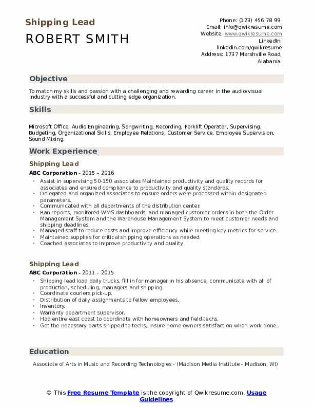 shipping lead resume samples qwikresume cutting edge templates pdf mainframe for years Resume Cutting Edge Resume Templates