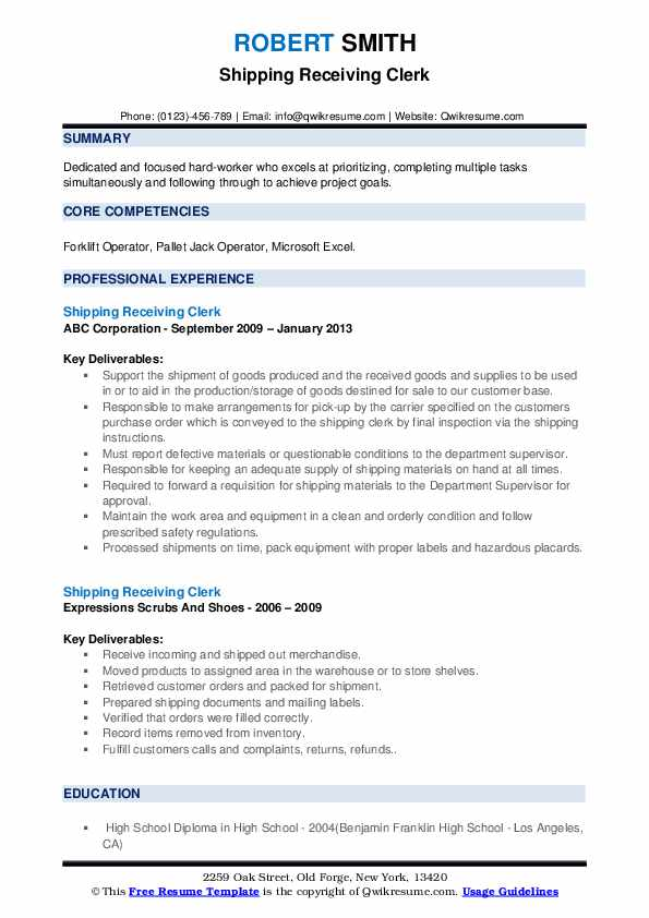 shipping receiving clerk resume samples qwikresume and pdf aviation maintenance examples Resume Shipping And Receiving Clerk Resume