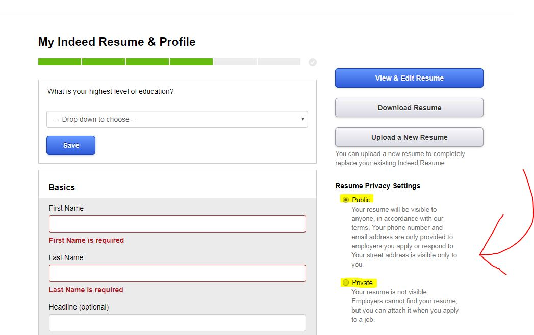 should you upload your resume on sites like indeed privacy tips post making private Resume Should You Post Resume On Indeed