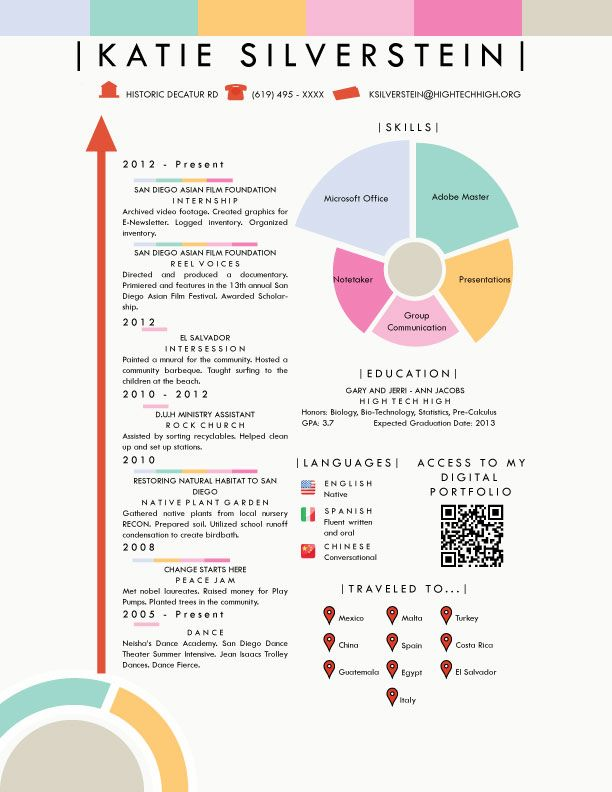 silverstein katie infographicresume infographic resume business timeline sap one for Resume Infographic Resume Timeline