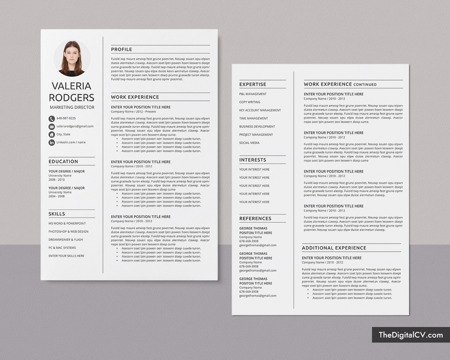 simple cv template for microsoft word professional curriculum vitae resume job winning Resume Two Page Resume Template
