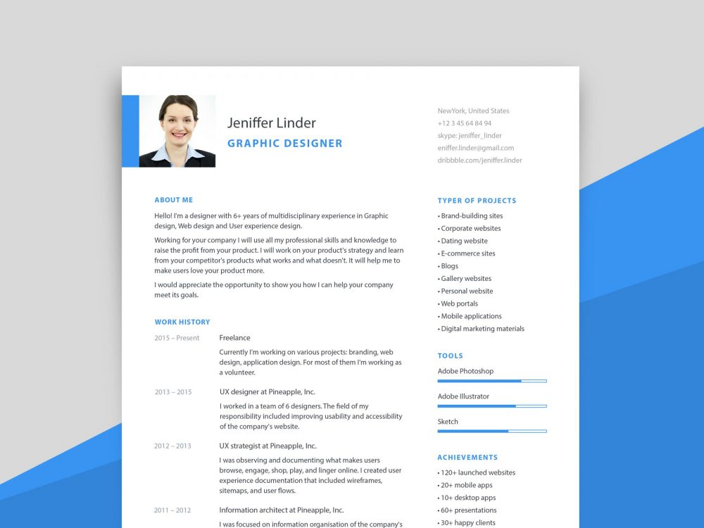 simple modern resume template with cover letter resumekraft templates free word 1000x750 Resume Mobile Resume Templates Free