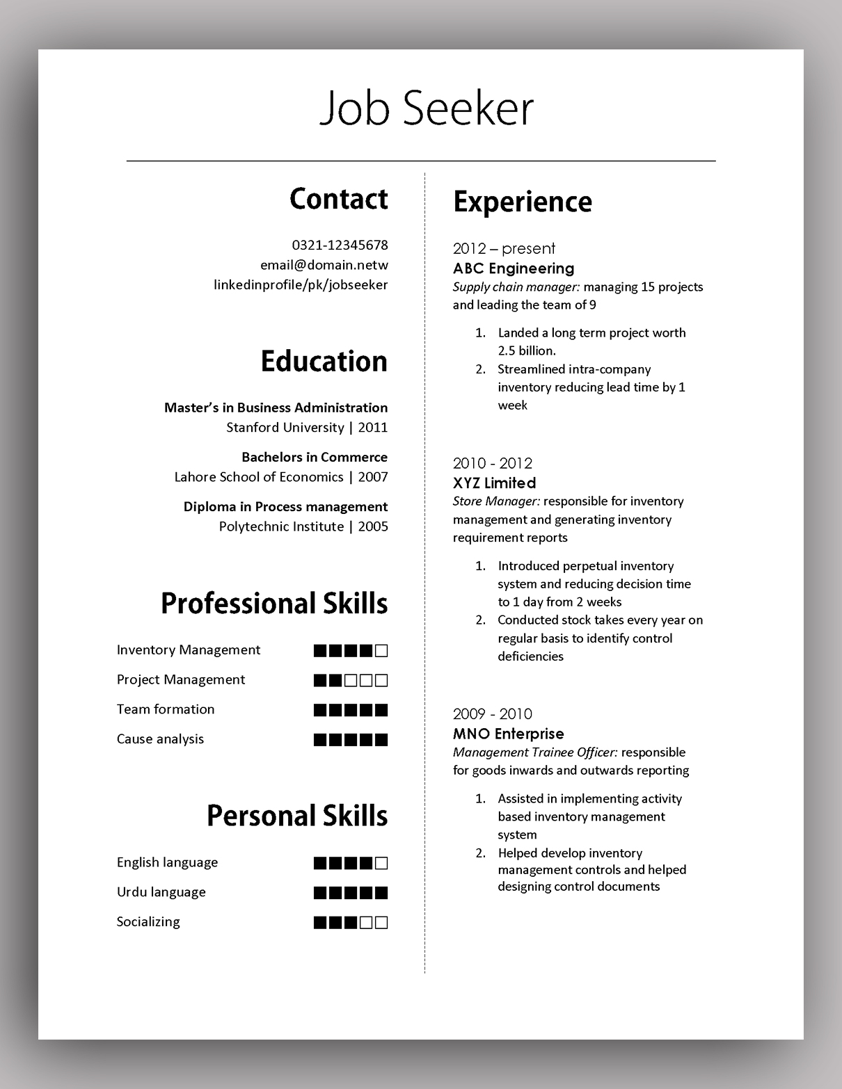 simple yet elegant cv template to get the job done free pakaccountants resume utility Resume Resume To Get A Job