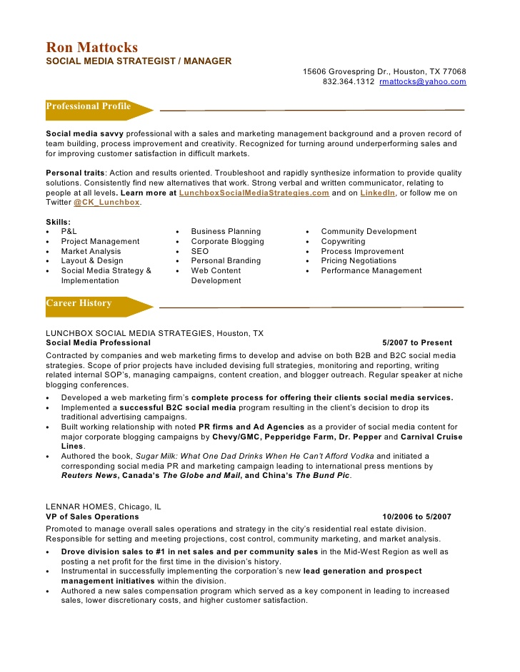 social media marketing resume template listings on product owner objective import sample Resume Social Media Resume Template