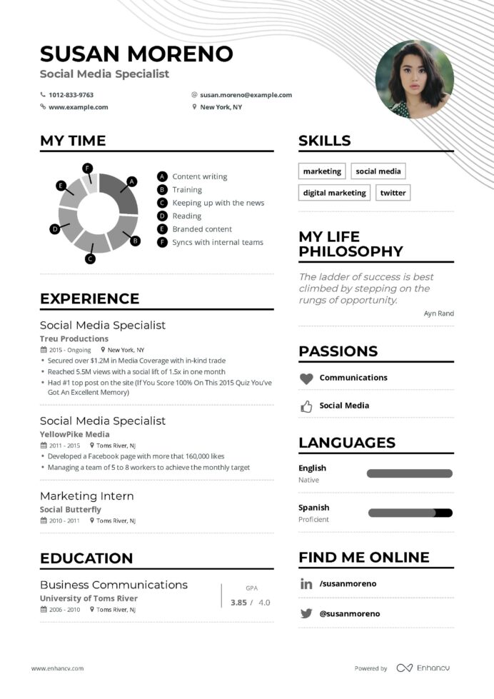 social media specialist resume example and guide for examples marketing teacher manager Resume Social Media Manager Resume Example