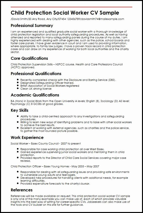 social work resume skills luxury child protection worker cv example myperfectcv project Resume Social Work Skills Resume