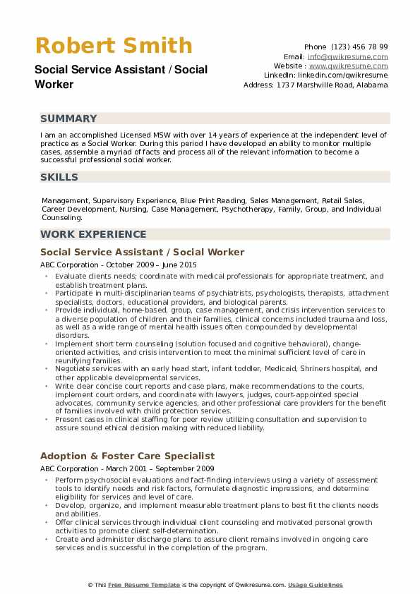 social worker resume samples qwikresume work templates free pdf flexible and adaptable Resume Social Work Resume Templates Free